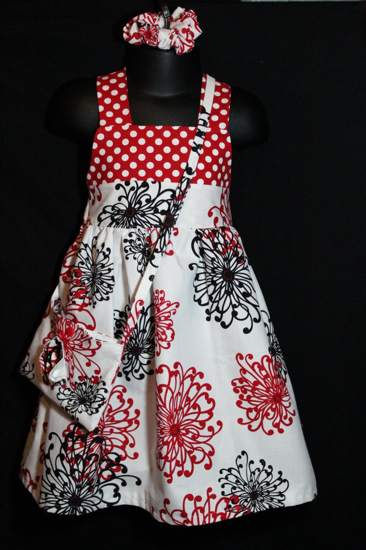 Beautiful Girls   Dress with Bag and Scrunchie  age 2-3 By Dimplebum. $53.00, via Etsy.