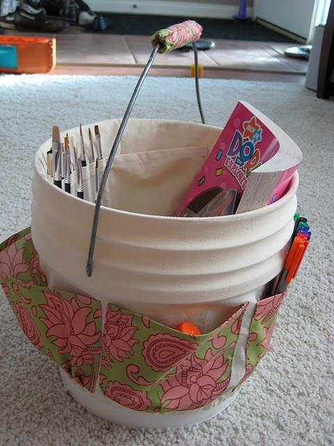 DIY- Simple Repurposed Art Bucket