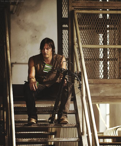 Daryl Dixon - still hot but I prefer the shorter hair on him. Why hide such a nice face?