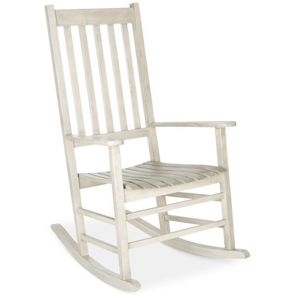 Evaline Outdoor Rocking Chair, Quick Ship ($197) ❤ liked on Polyvore featuring home, outdoors, patio furniture, outdoor chairs, white, outdoor patio furniture, rustic outdoor chairs, acacia outdoor furniture and white rocker