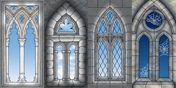 Gothic window domino designs 4 by johnraptor on for Gothic painting ideas
