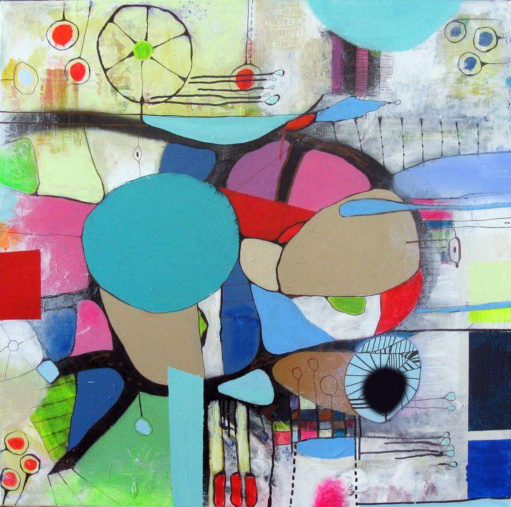 Tankevæld 100 x 100 cm #art