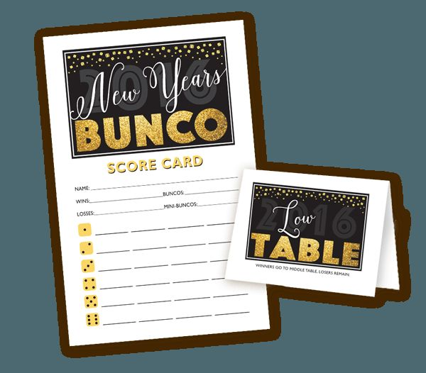 Bunco New Year Themes – Merry Christmas And Happy New Year 2018