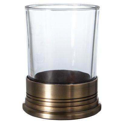 Threshold™ Brass Bathroom Tumbler - Clear