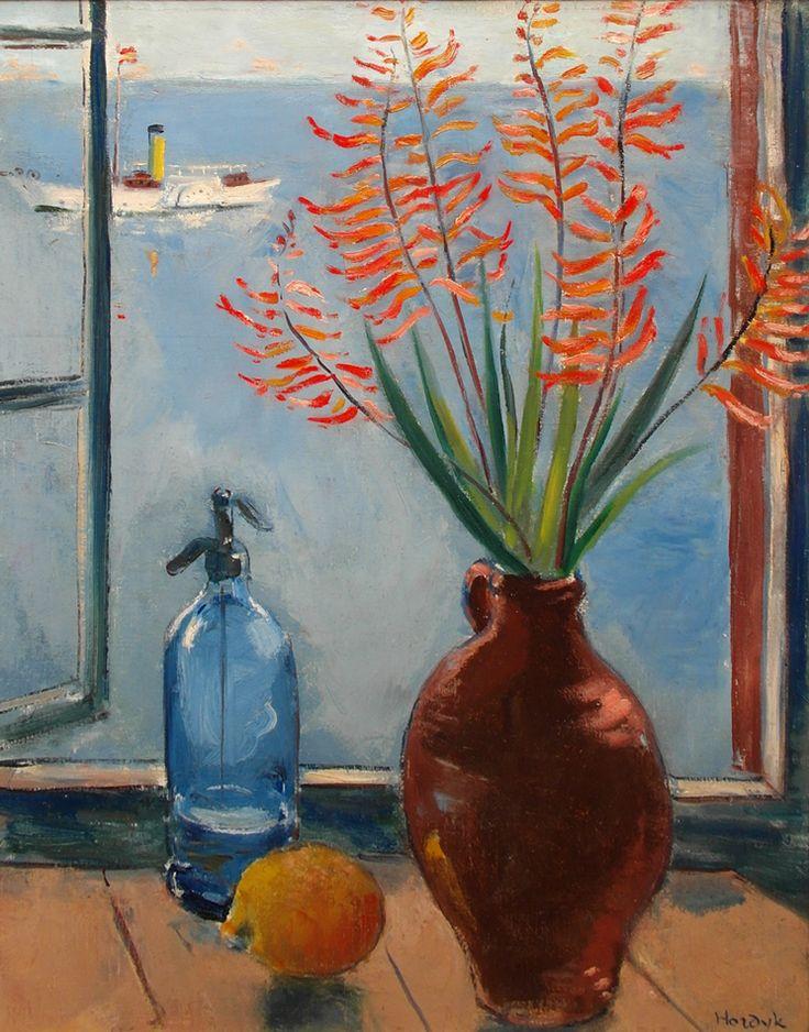 Gerard Hordijk | stilleven vaas citroen & fles