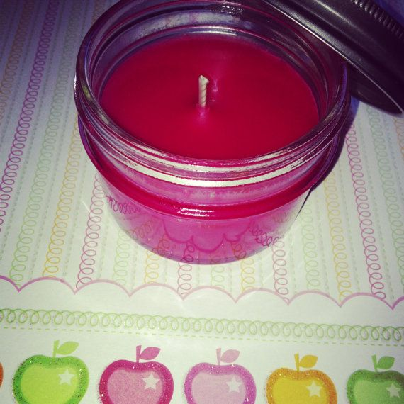 Bourbon Apple Bobbing 4oz soy candle by crazy2love on Etsy, $5.00