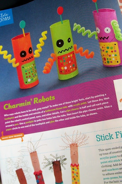 Toilet Paper Tube Robots...my first craft in Family Fun magazine
