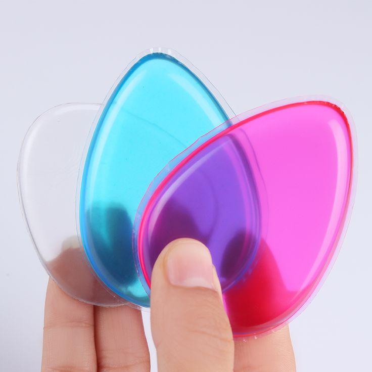 1 St Jelly Poederdons Waterdrop Siliconengel Spons Clear Roze Blauw Voor Lady Gezicht Foundation BB Cream Cosmetische Make Tool