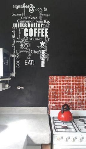 AVALON vinilo decorativo cocina mural palabras argentinas tramas