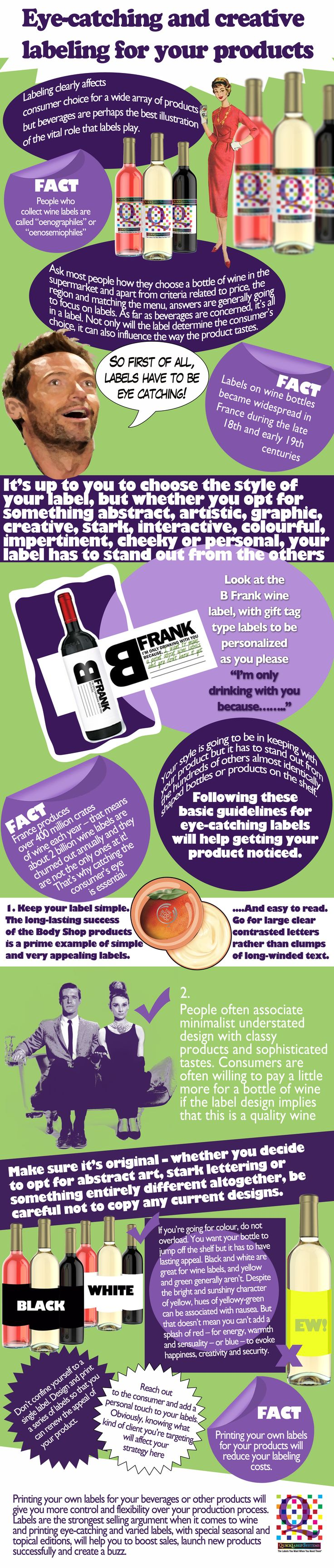 Wine labels matter whether you collect them or not! - As the infographic shows, many people select their wines by picking the most attractive labels. Having your own label printer gives you the competitive edge. http://www.quicklabel.co.uk/