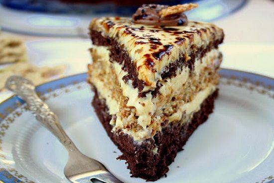 Торт с польского сайта,безумно вкусный  Какао бисквит: 5 яиц 3/4 стакана сахара 2/3 стакана муки 1/3 чашки какао Смешать муку и какао, просеять. Белки отделить от желтков, взбить белки в жесткие пики.…