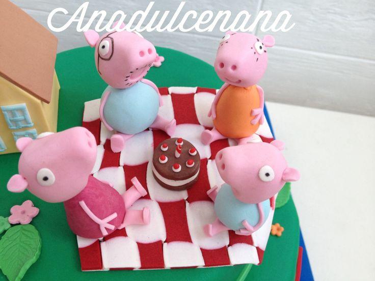 Familia Pepa pig!! Celebrando el cumple! #anadulcenana