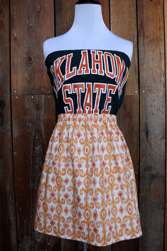 Oklahoma State University OSU Game Day Dress  Size by jillbenimble, $36.00