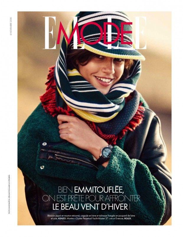 Antonina Petkovic & Anthony Vibert get beachy in Elle France November 2015 by David Burton