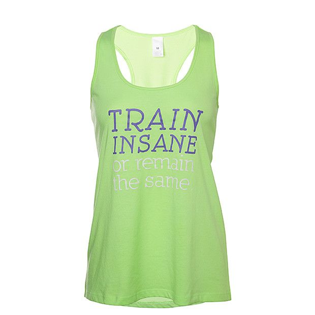 Active Printed Tank - Lime Green