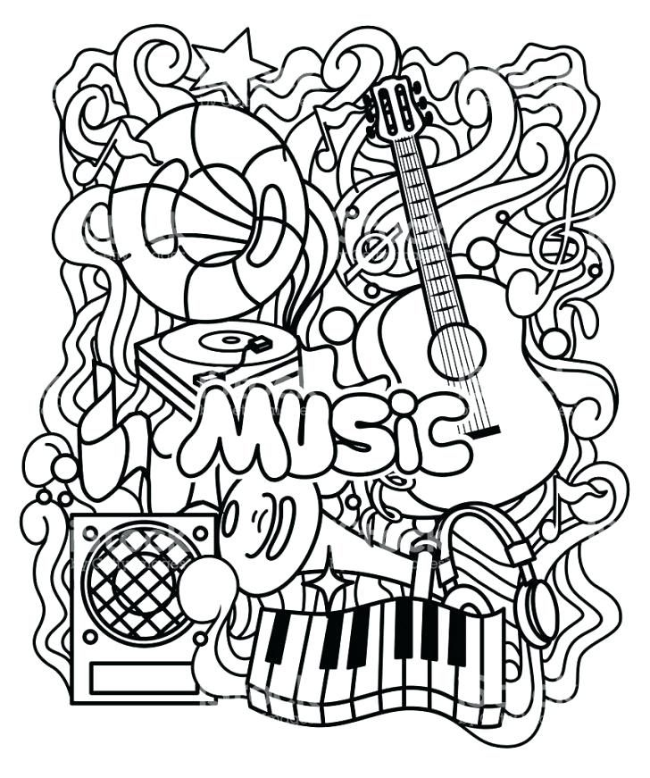 Illustration Appreciation For Music Google Search Music Coloring Sheets Coloring Pages Music Coloring
