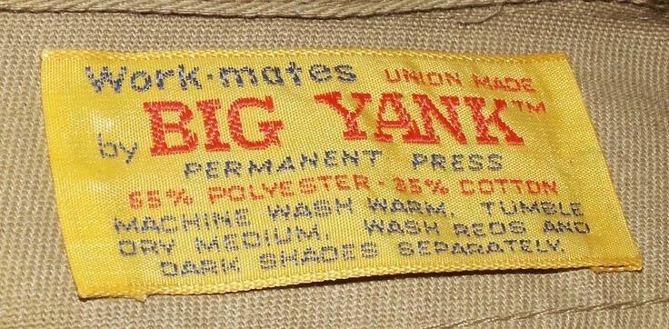 VIntage neck labels #Mensclothing, #vintageclothing