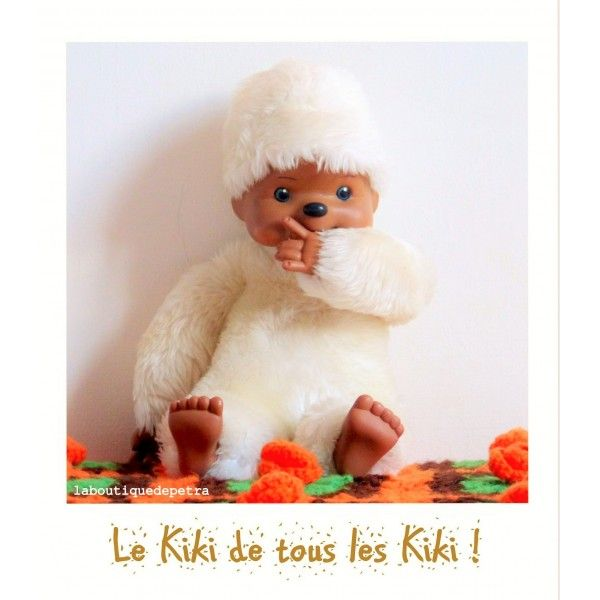 Kiki peluche blanc 80's - La Boutique de Petra