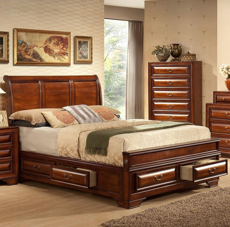 Queen Beds With Drawers