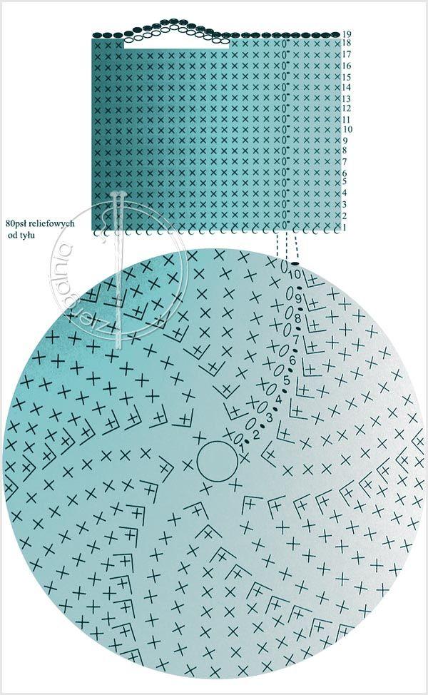 scheme to crochet basket diagram. . ☀CQ crochet bags baskets totes bolsas borse tote