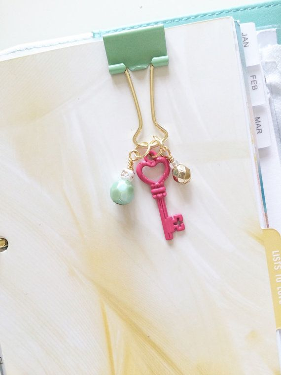 Planner paperclip handmade binder clip by PocketfulofSparkles