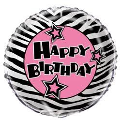 Complete a girl's birthday party with this funky foil balloon! We add a gorgeous curling ribbon to make a special addition to a table in a restaurant or a whole
