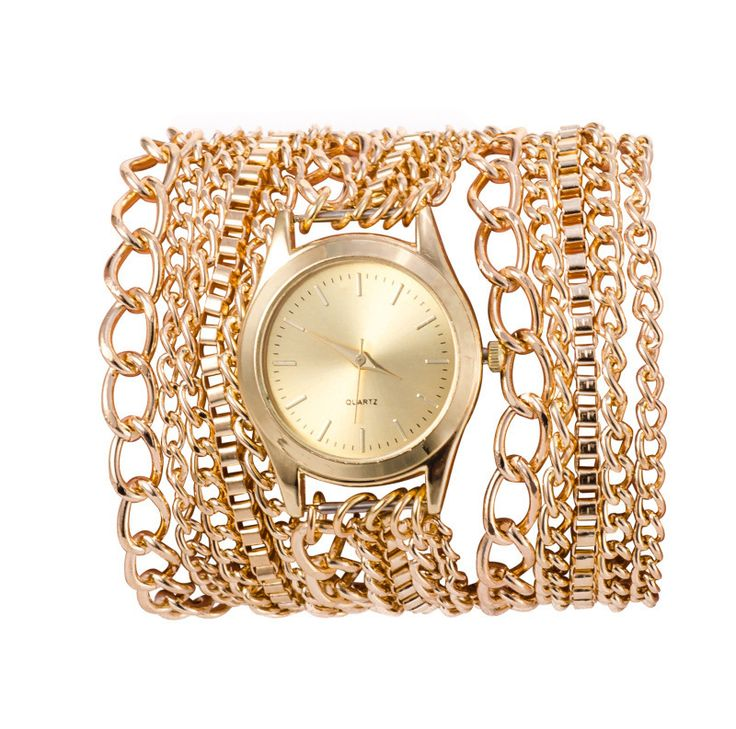 Hawaii style women watch metal chain necklace table Geneva watch quartz watch