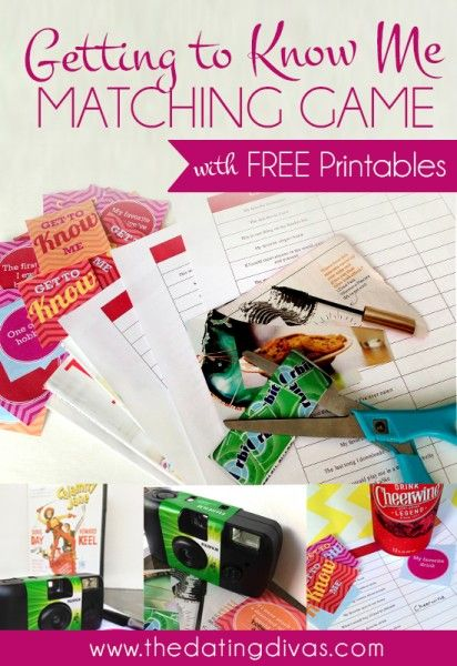 Getting To Know You Matching Game