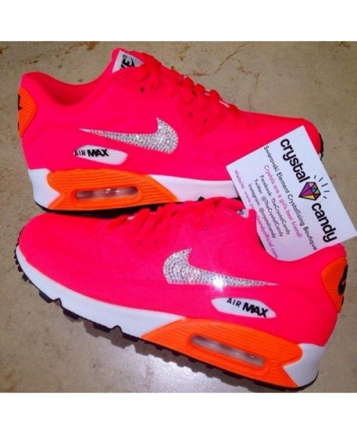 new concept 334f8 b23fc Nike Air Max 90 Candy Pink Orange Shoes