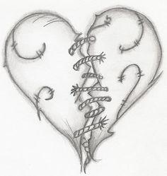 broken heart drawing - Google-søgning