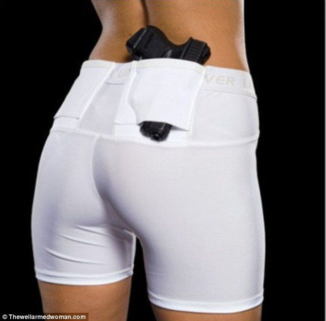 Under wraps: The Well Armed Woman is another website that specializes in gun concealment clothes and accessories, like these concealment compression undershorts