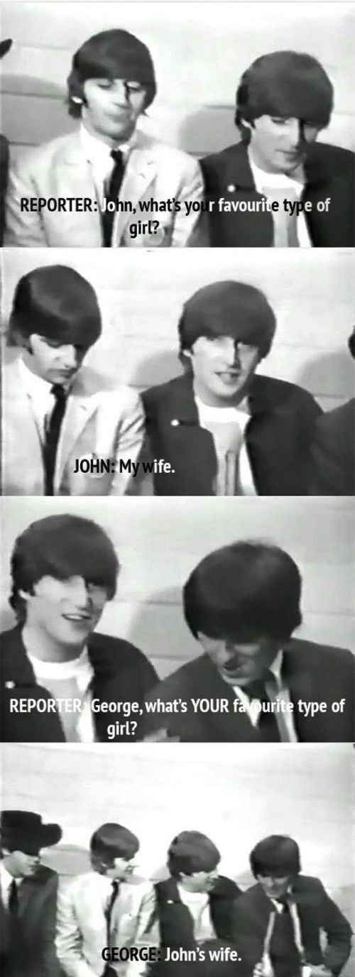 When Ringo was asked to talk about politics The beatles