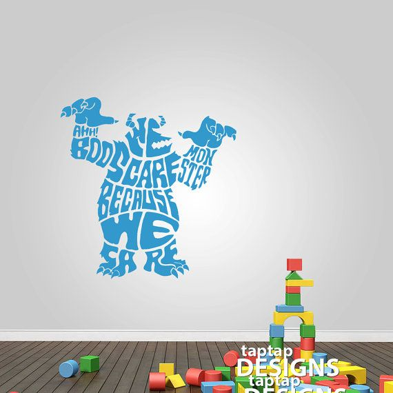 Monsters Inc Sully Design Wall Decal Sticker SKU0247 On Etsy, £10.99 Part 14