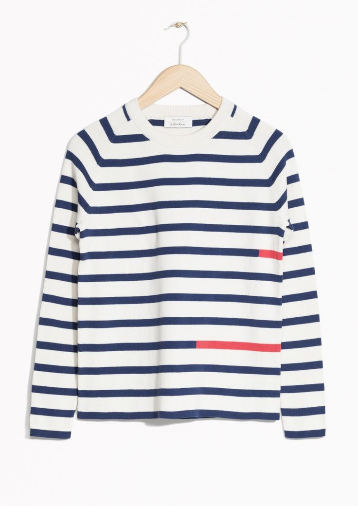 & Other Stories image 1 of Colour Block Stripe Sweater in Blue