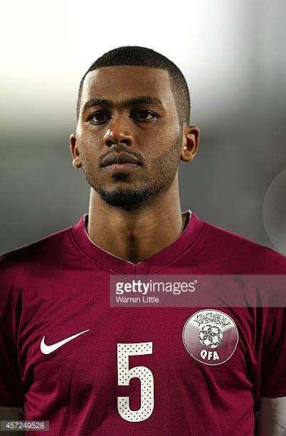 A portrait of Abdulaziz Hatem of Qatar ahead of the international friendly match between Qatar and Australia at the Abdullah Bin Khalifa Stadium on...