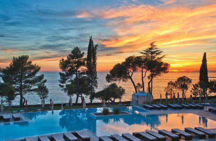 Hotel Laguna Parentium #Porec #Croatia #sunset #pool