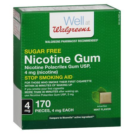 Walgreens Nicotine Gum, 4mg Mint - 170 ea