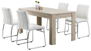 Tafel HASLE + 4 stoelen wit HAMMEL   JYSK