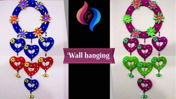 Wall hanging craft ideas - How to make craft items from waste material -  Wall Hanging Crafts #crafts