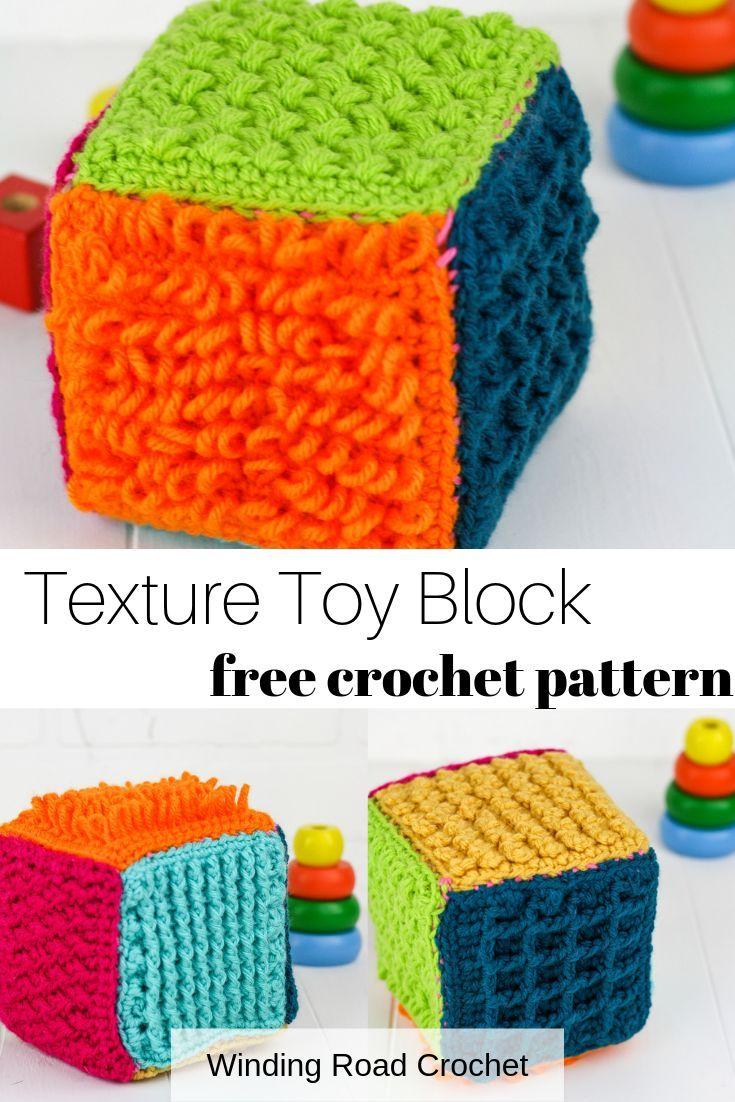Crochet Sensory Block Free Pattern