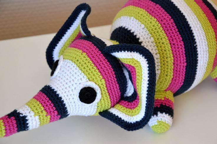 Crochet toy elephant