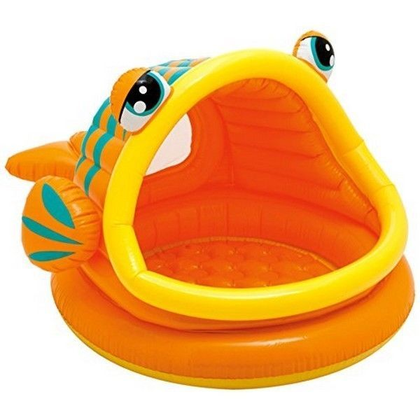 "Intex 57109EP Lazy Fish Inflatable Baby Pool- 49"" X 43"" X 28""- for Ages 1-3 #Intex"