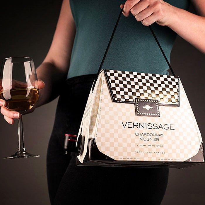 French wine meets high fashion! Choose from Cabernet Sauvignon, Chardonnay or Rose | Wine Handbags | GettingPersonal.co.uk