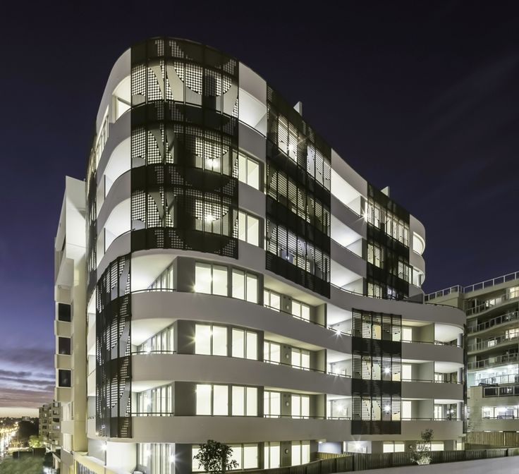 Longbeach Apartments curved form