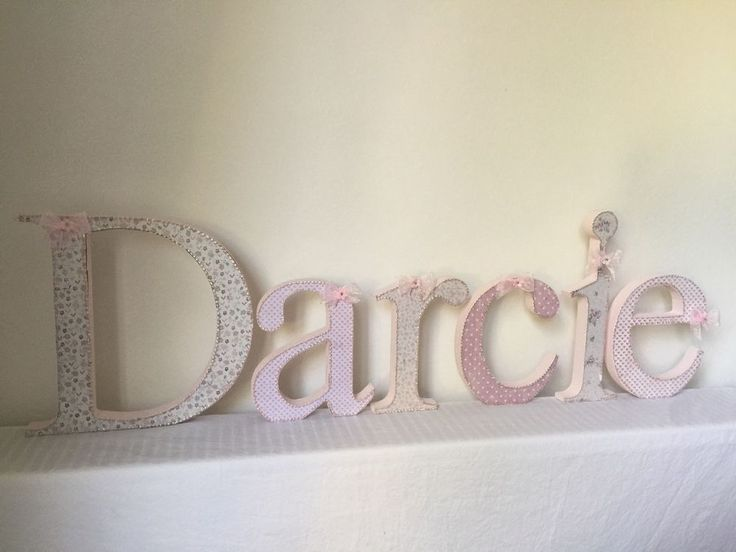 Best 20 Shabby Chic Wall Decor Ideas On Pinterest: 20 Best Free Standing Wooden Letters For Baby Girl And Boy