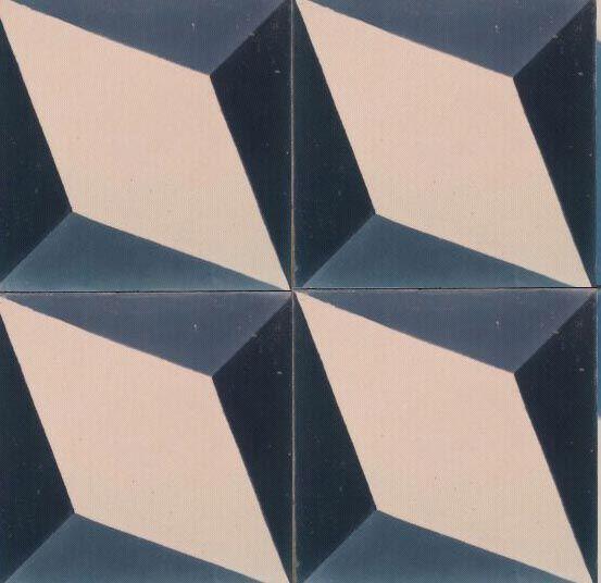 Nadia Blue Encaustic Tile, encaustic-tiles.co.uk
