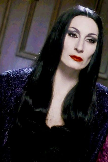 There will only EVER be ONE Morticia = Anjelica Huston as Morticia Addams