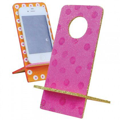 Decorate a mobile Phone holder for Mum! That way she will never lose it :)