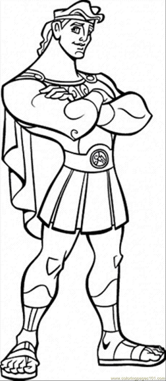 Hercules Folded Coloring Pages For Kids Printable