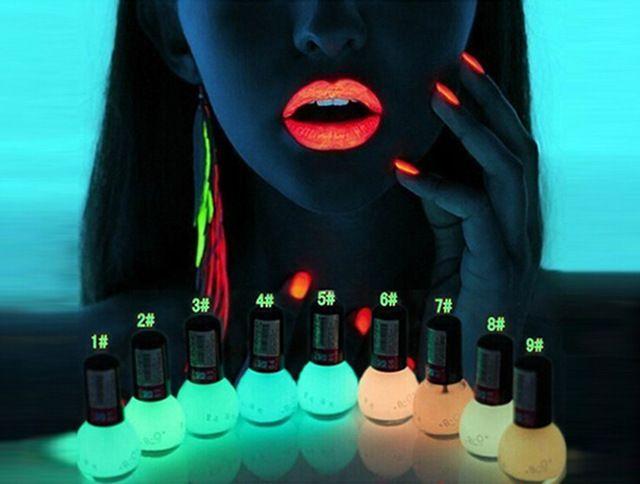 Дешевые Цены Горячей Продавать 20 Конфеты Цвета Лак Для Ногтей Светятся в Темноте Лак Для Ногтей Флуоресцентный Ногтей Лак Эмаль